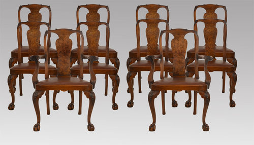 - Set Of Ten Walnut George II Style Dining Chairs - Antiques Atlas