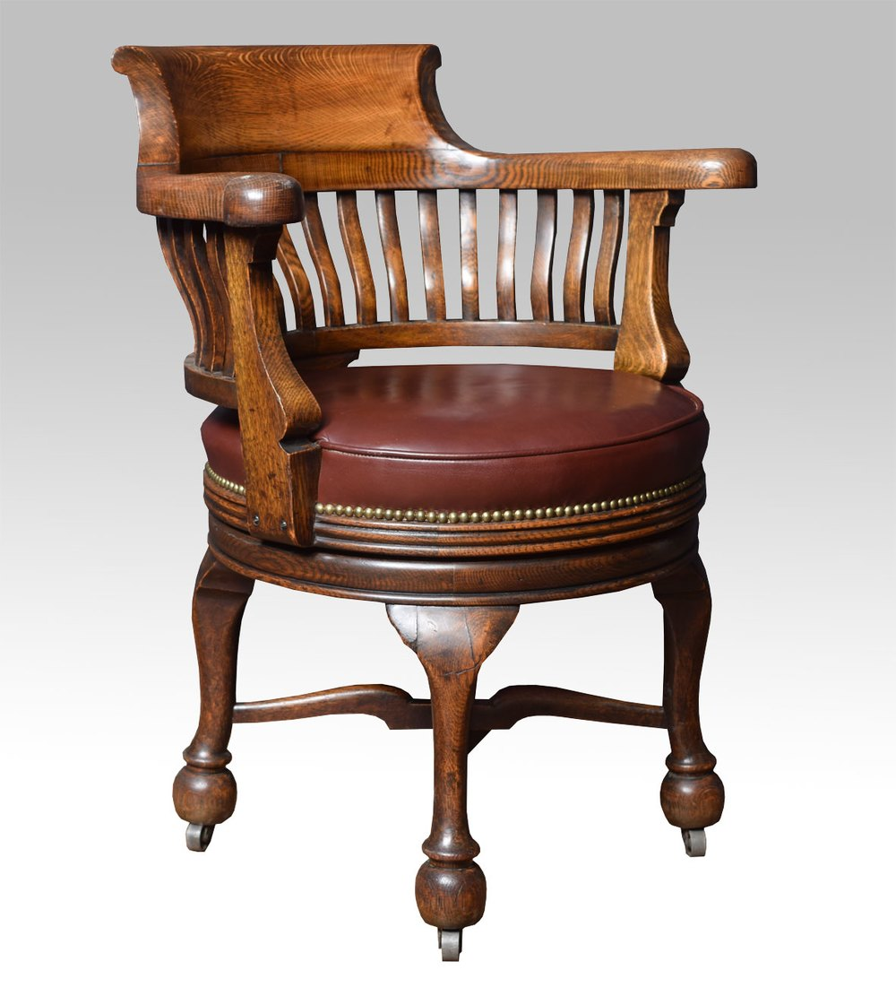 Victorian Oak Swivel Desk Chair Antiques Atlas
