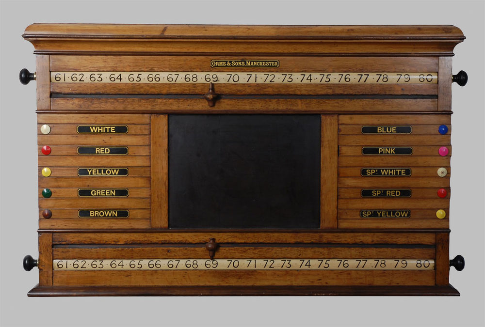 Antiques Atlas Victorian Oak Billiard Room Scoreboard