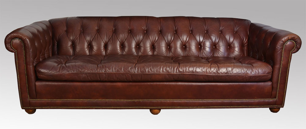 Antiques Atlas Vintage Burgundy Leather Chesterfield