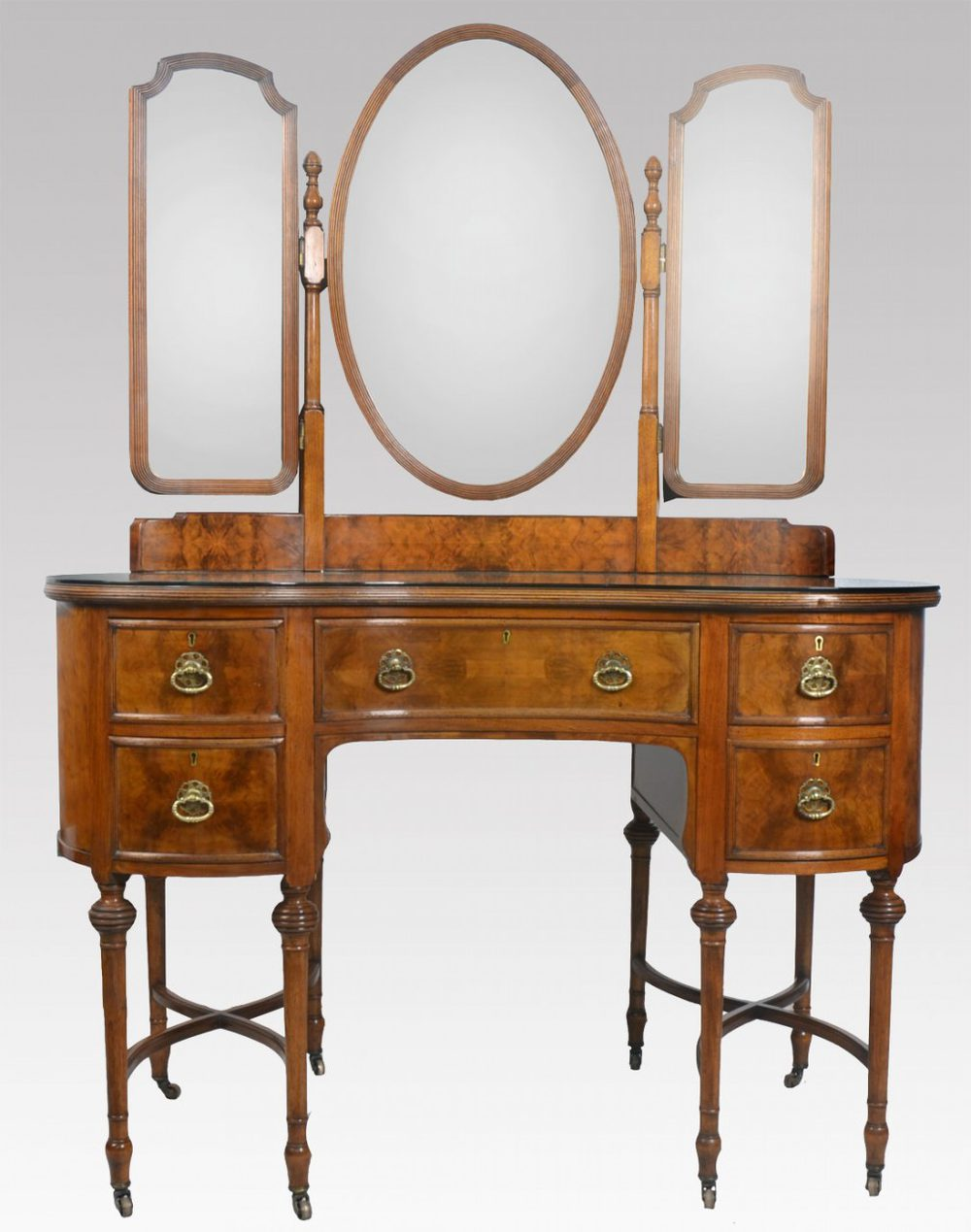 Walnut kidney shaped dressing table antiques atlas for Dressing table