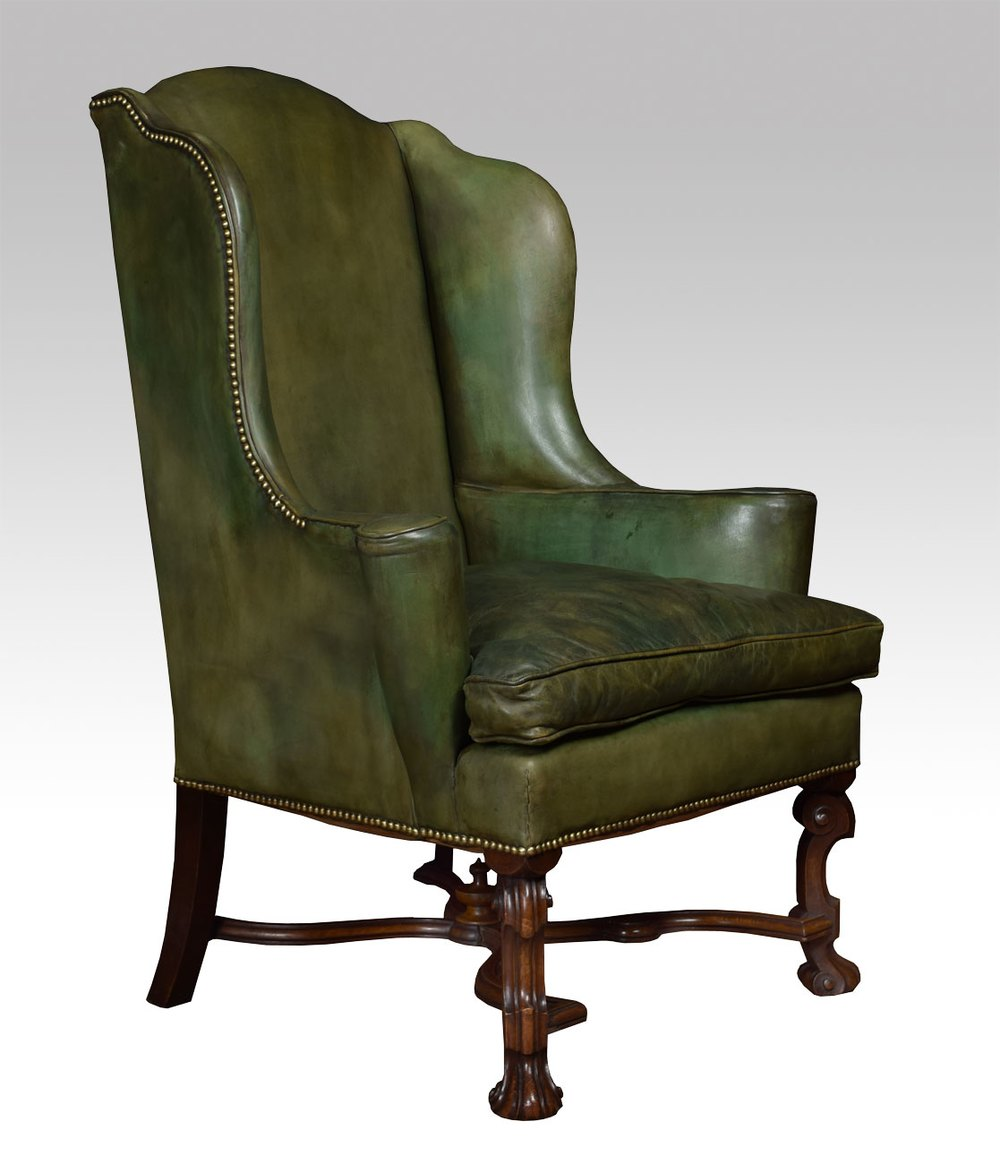 William And Mary Style Wingback Armchair Antiques Atlas