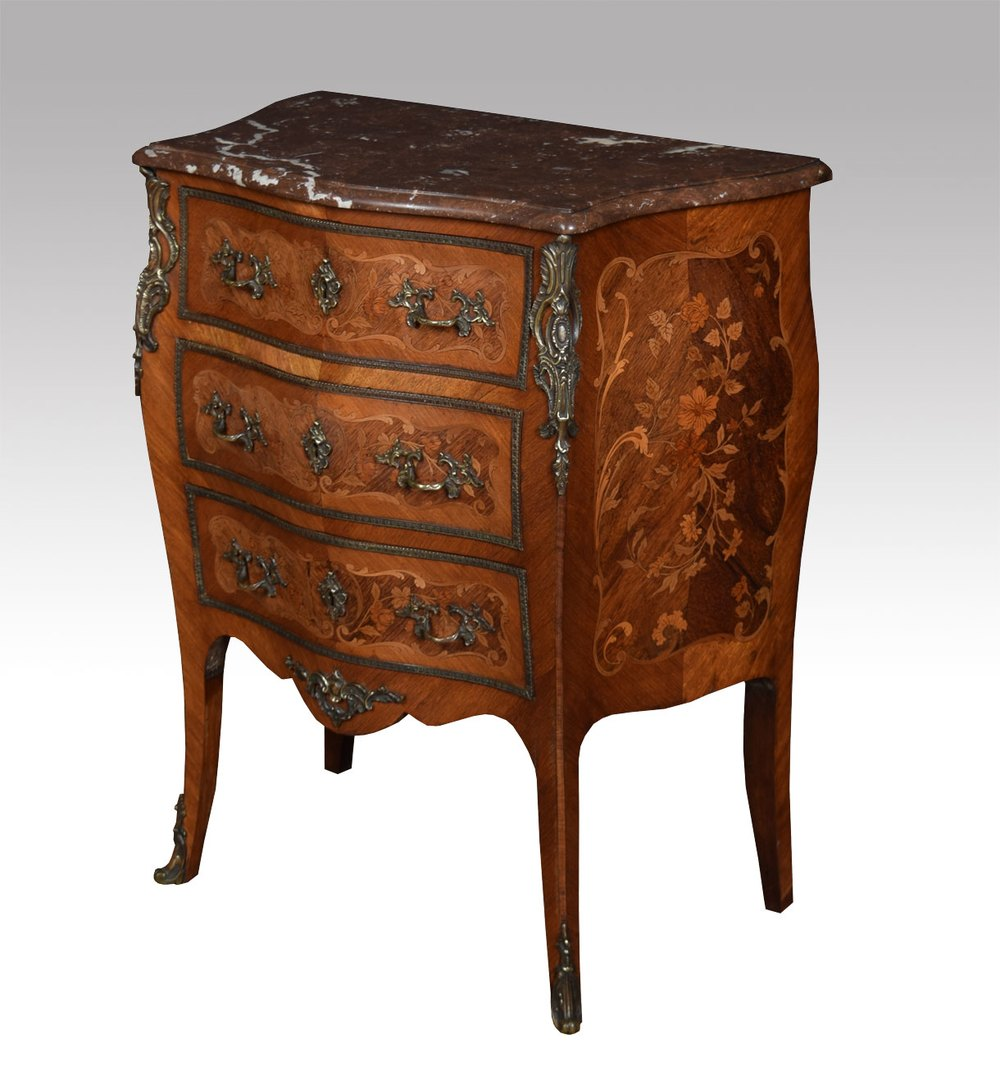 kingwood and marquetry commode antiques atlas. Black Bedroom Furniture Sets. Home Design Ideas