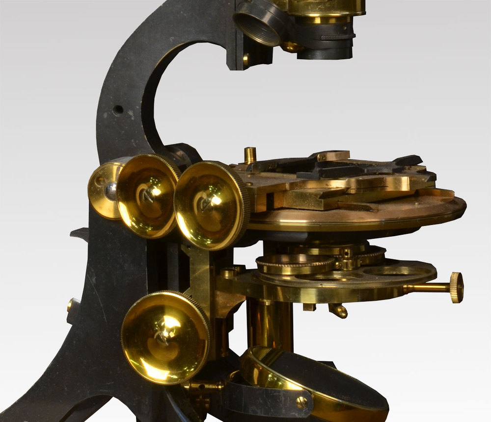 Antiques Atlas Lacquered Brass Microscope