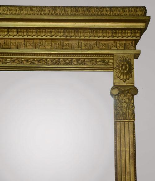 Antiques Atlas Large Gilt Wood Over Mantle Mirror