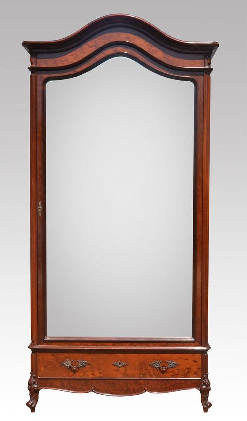 mahogany single door armoire wardrobe antiques atlas. Black Bedroom Furniture Sets. Home Design Ideas