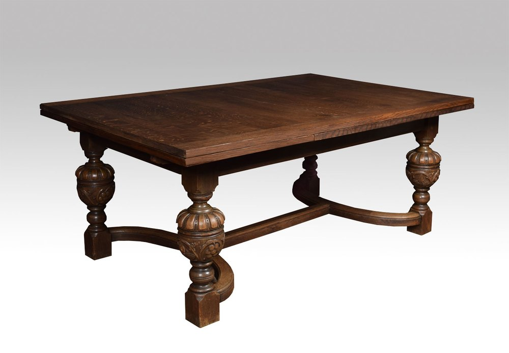 Oak jacobean revival refectory dining table antiques atlas for 120 inch table seats how many
