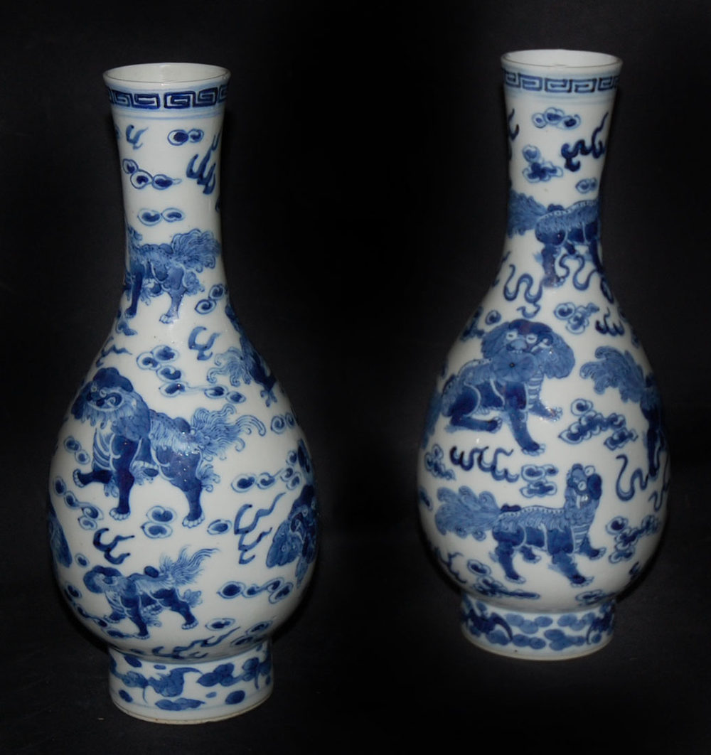 Antiques Atlas Pair Of Chinese Blue And White Vases
