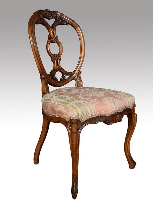 Set Of Six Victorian Walnut Dining Room Chairs Antiques Atlas