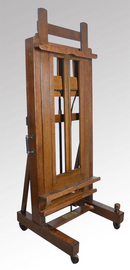 Studio Easel From The Studio Of William Crosbie Antiques Atlas
