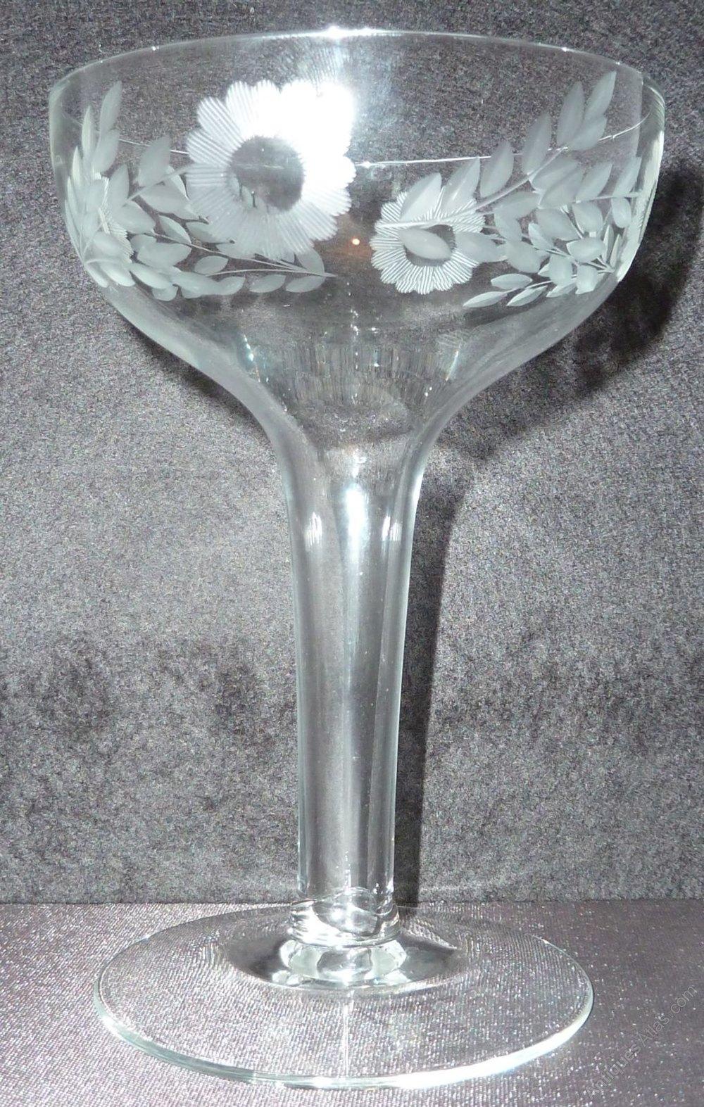 Antiques atlas set 4 1940 39 s hollow stem champagne glasses bowls - Hollow stem champagne glasses ...