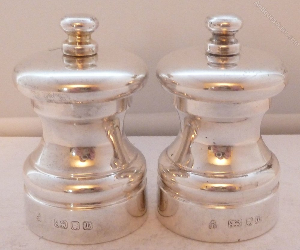 Antiques atlas silver cruet set salt and pepper mills grinders - Salt and pepper cruet set ...
