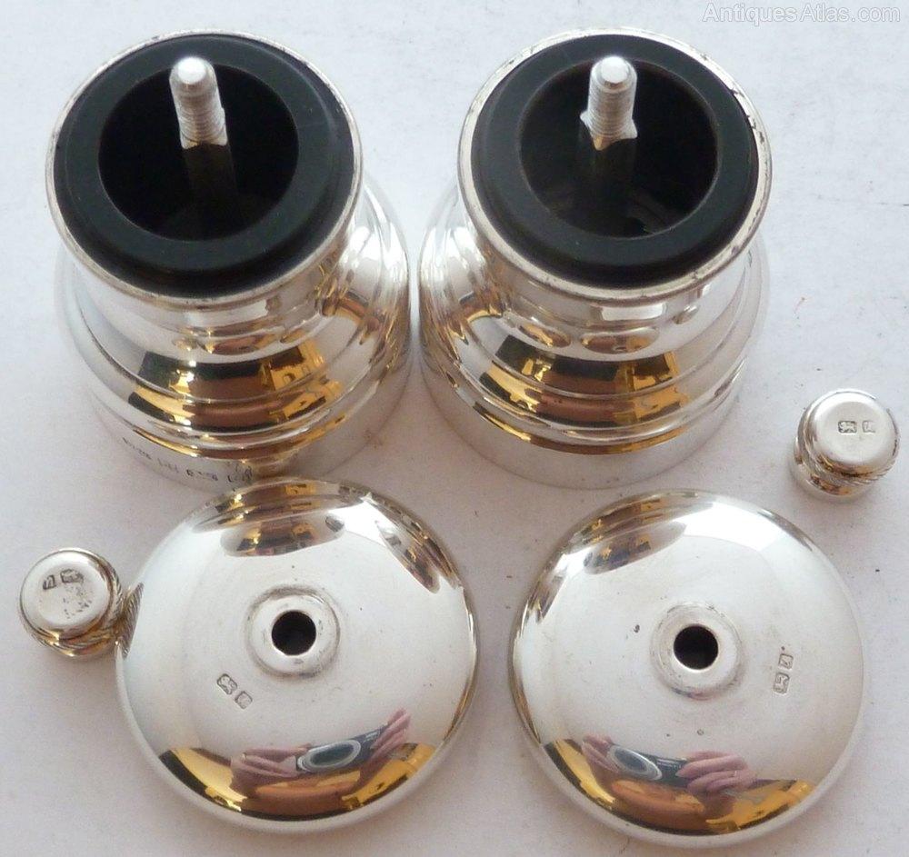 Antiques atlas solid silver cruet set salt and pepper grinders - Salt and pepper cruet set ...