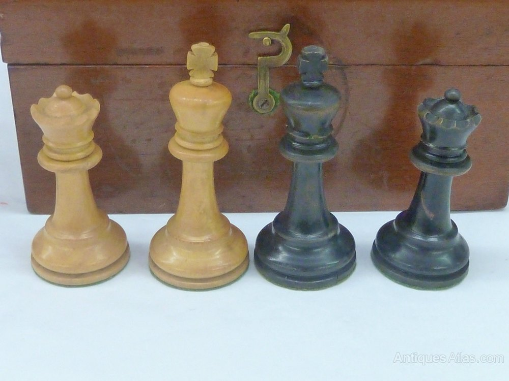 Antiques Atlas Staunton Style Of London Wooden Chess Set