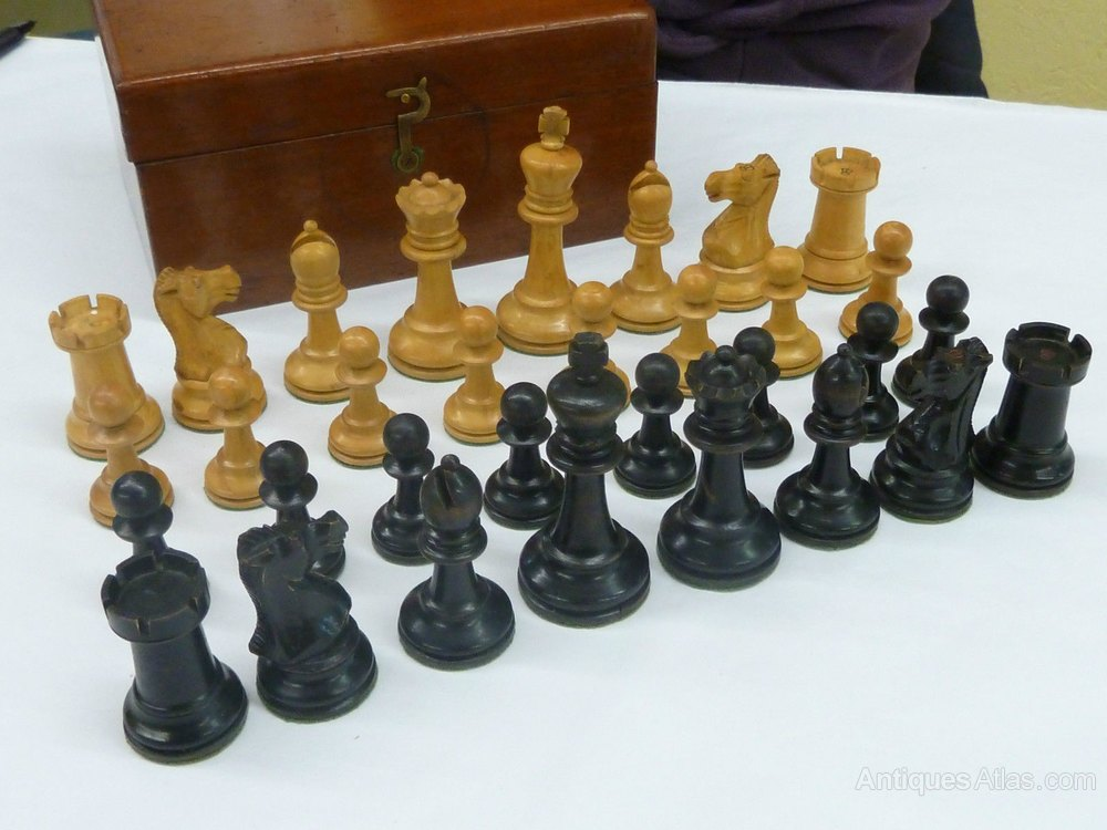 Wooden Chess Sets For Sale Antiques Atlas Staunton Style
