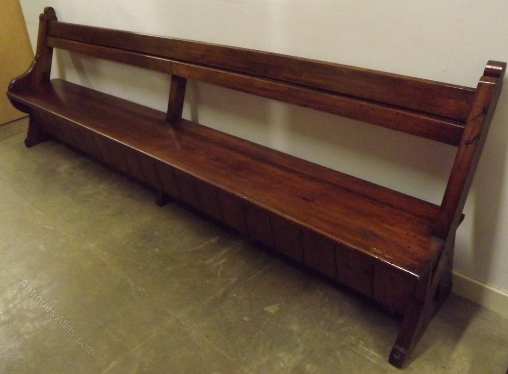 Victorian 9ft Solid Pitch Pine Church Pew Bench Antiques Atlas