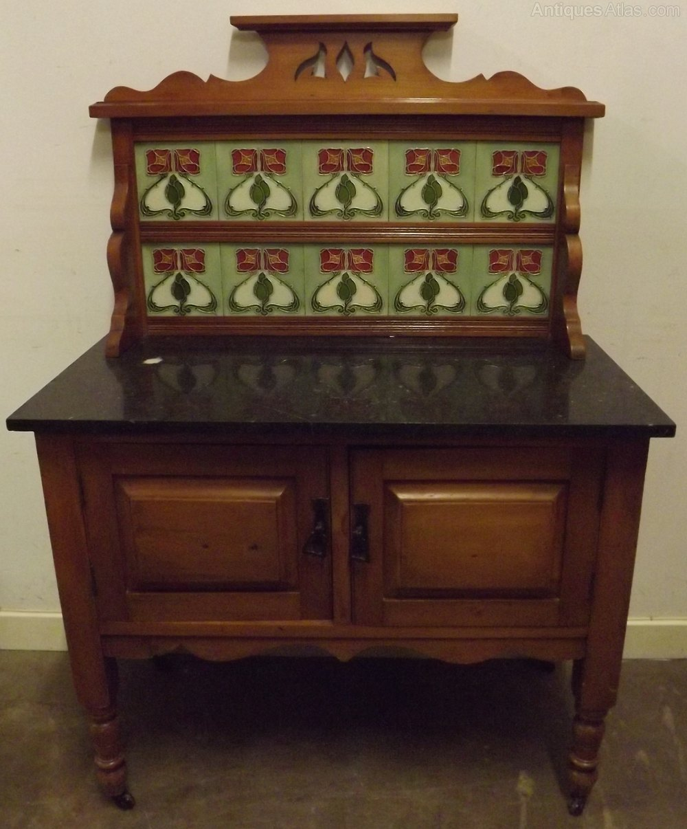 Victorian Satinwood Marble Topped Washstand Antiques Atlas