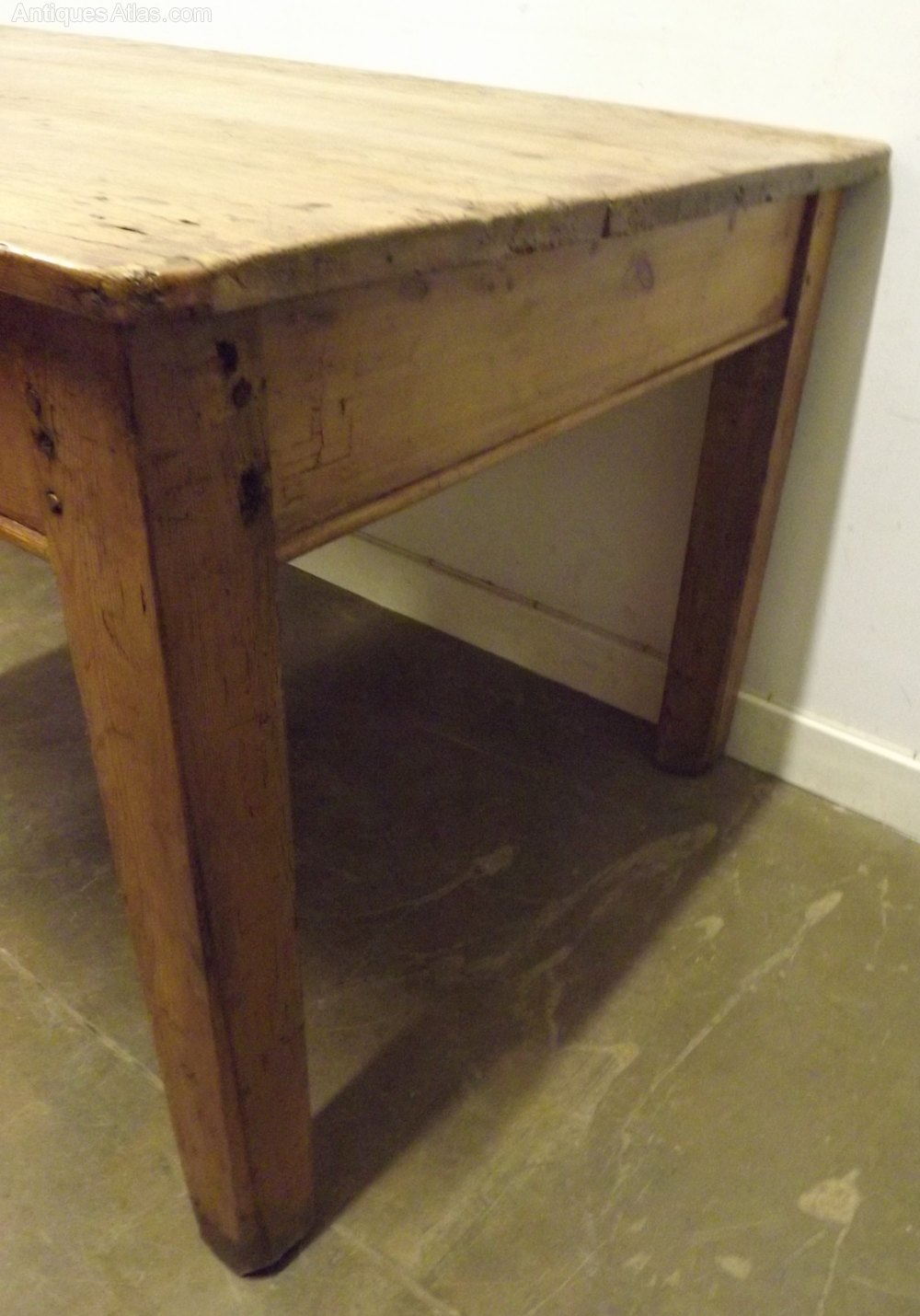 victorian solid pine farmhouse dining table antiques atlas