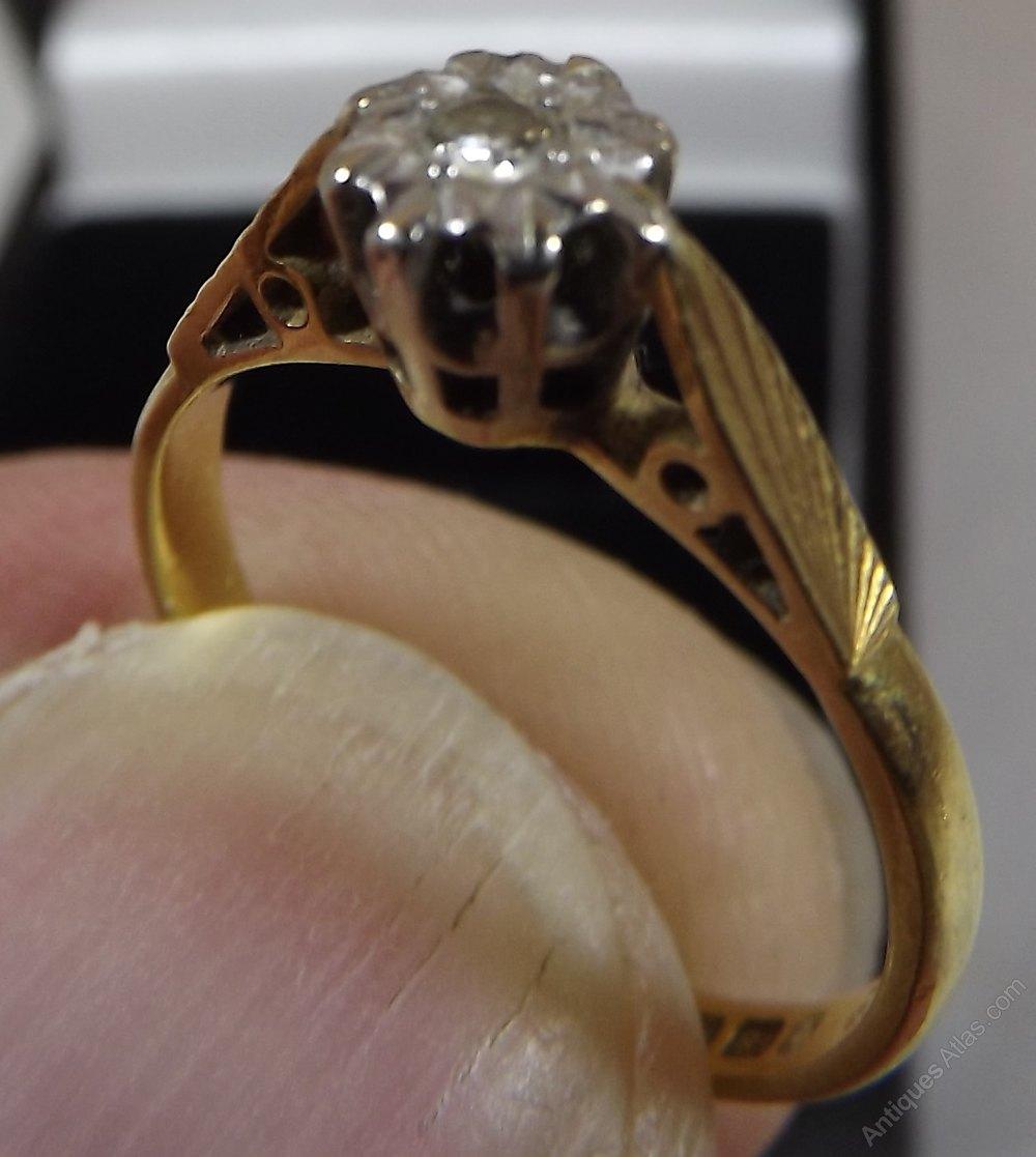 Antiques Atlas Vintage 18ct Gold Diamond Solitaire Ring