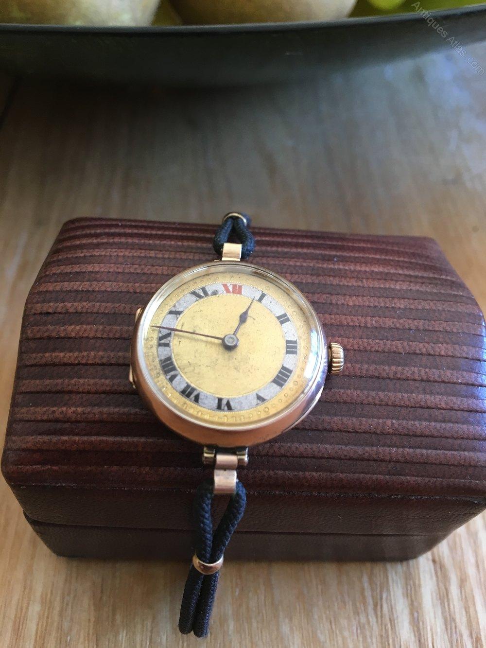 Rolex Prices Uk >> Antiques Atlas - Ladies 9ct Gold Rolex Watch Made 1949
