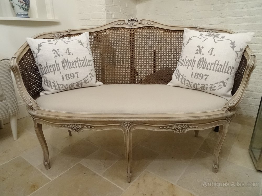 French bergere sofa antiques atlas for French divan chair
