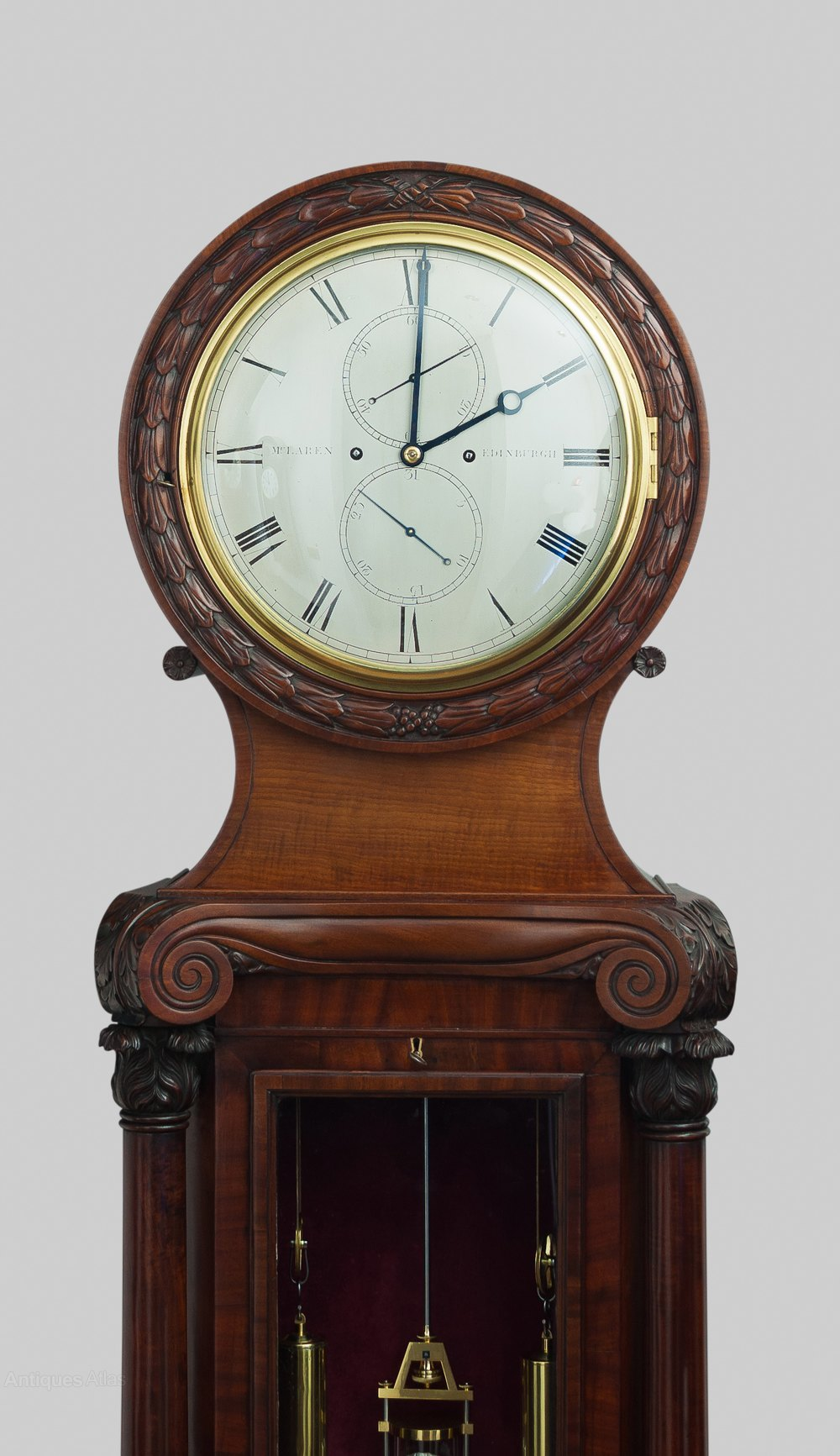 Antiques Atlas A Fine Quality Mahogany 8 Day