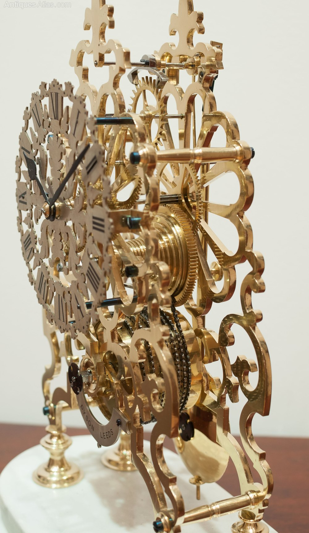 Antiques Atlas Skeleton Clock By Dyson Of Leeds