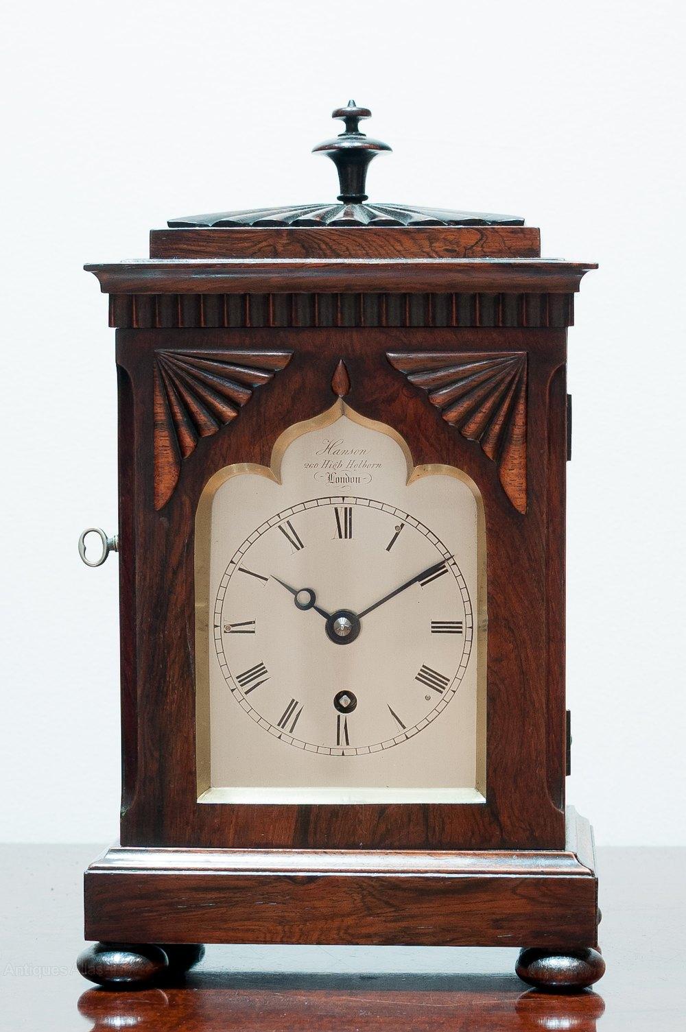 Antiques Atlas Small Mantel Clock By Hanson Of London C 1830