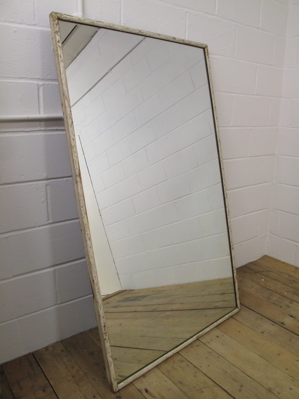 Antiques Atlas - Large English Shop Mirror, Painted Timber ...