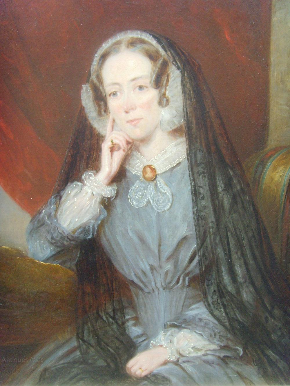 Antiques Atlas 1840s 1850s Oil Painting Portrait Of A Lady