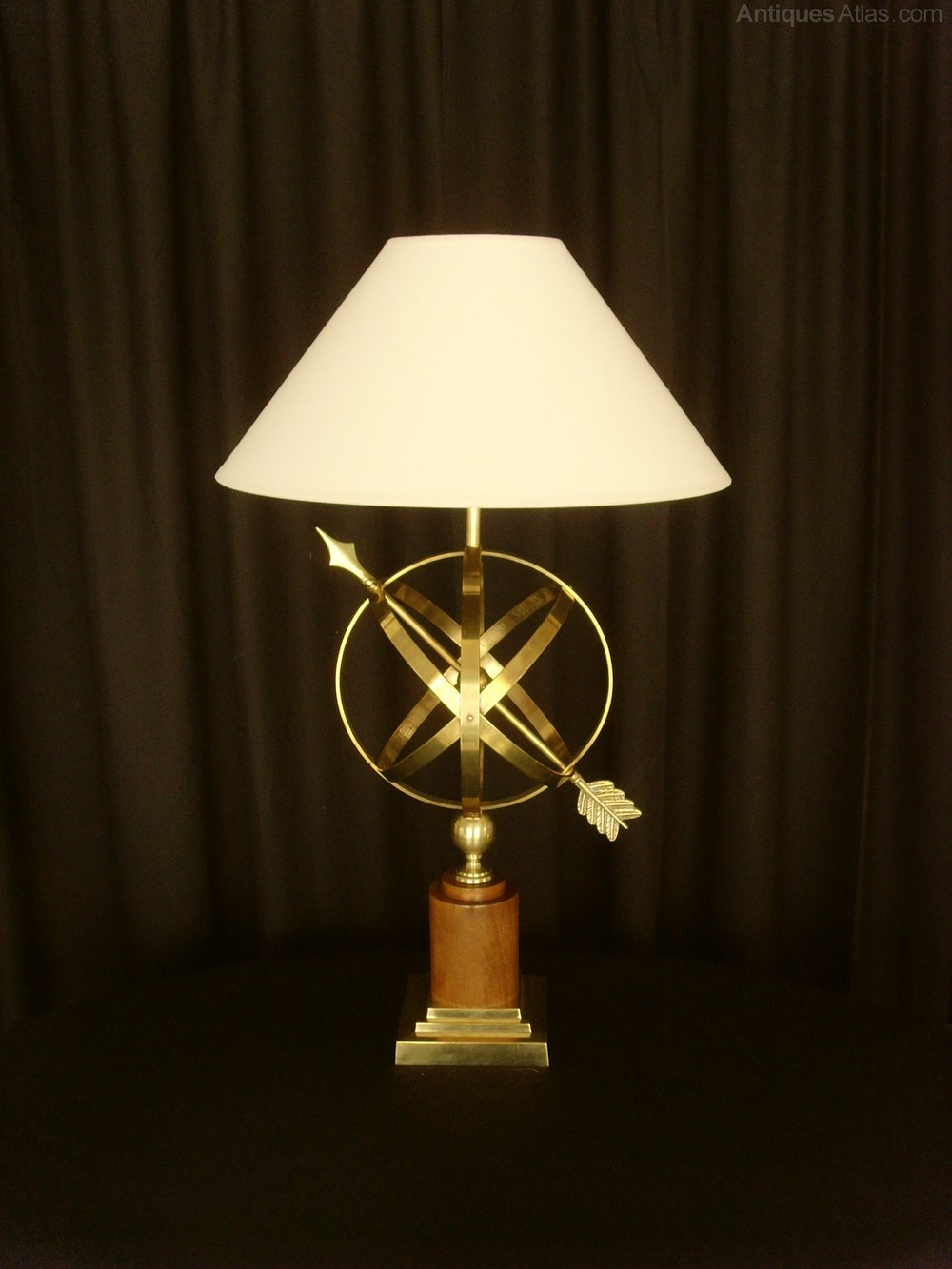 Antiques Atlas Brass Armillary Sphere Table Lamp Amp Shade