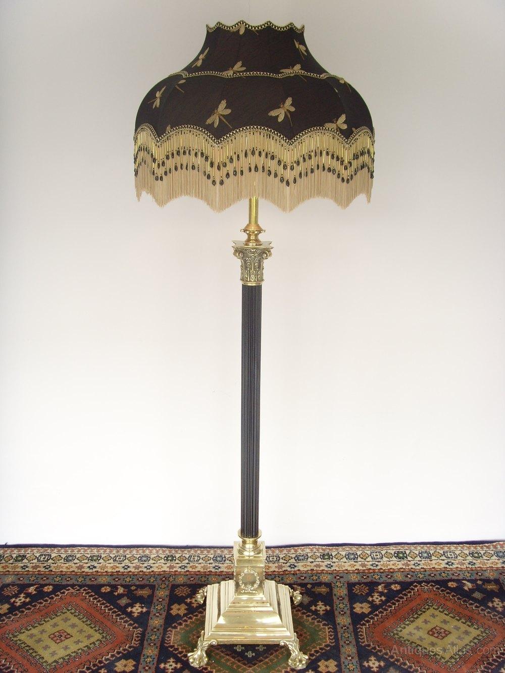 Antiques Atlas Brass Corinthian Column Standard Lamp And