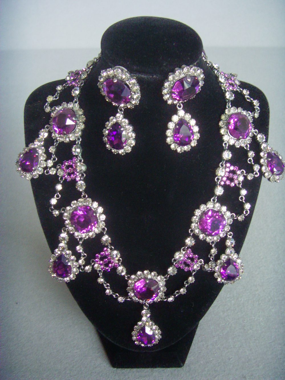 Antiques Atlas Count Alexander Amethyst Amp Clear Crystal Set
