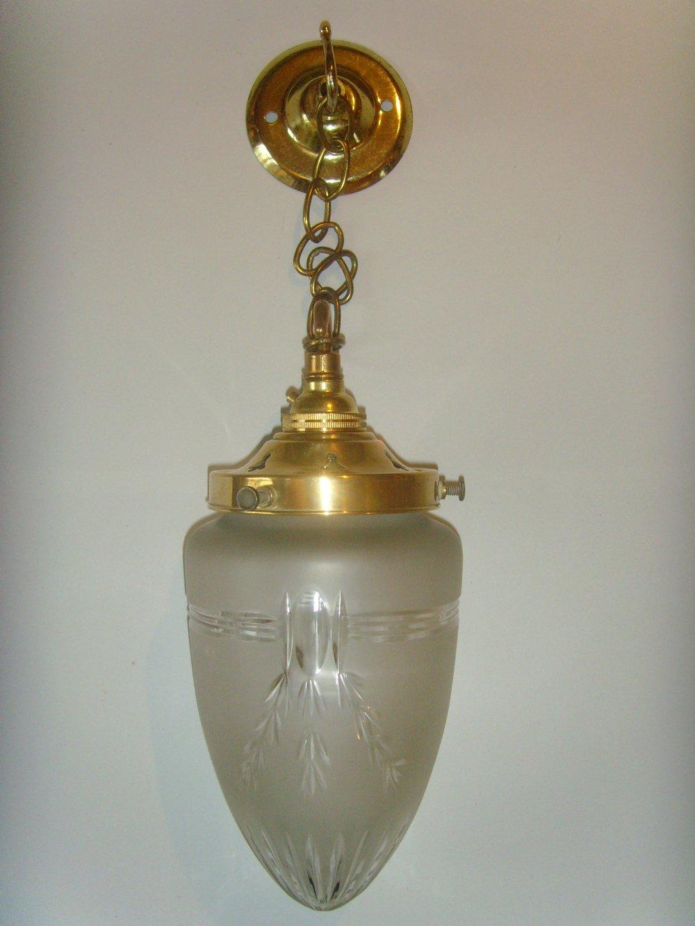 Antiques Atlas Edwardian Cut Glass Pendant Ceiling Light