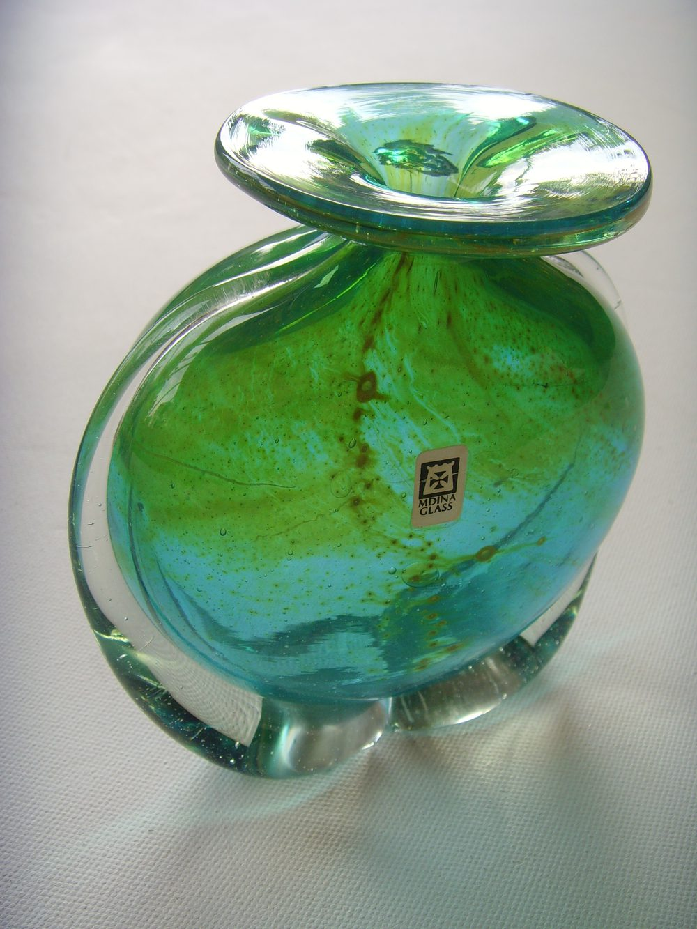 Antiques Atlas Mdina Turquoise Vase With Applied Wings