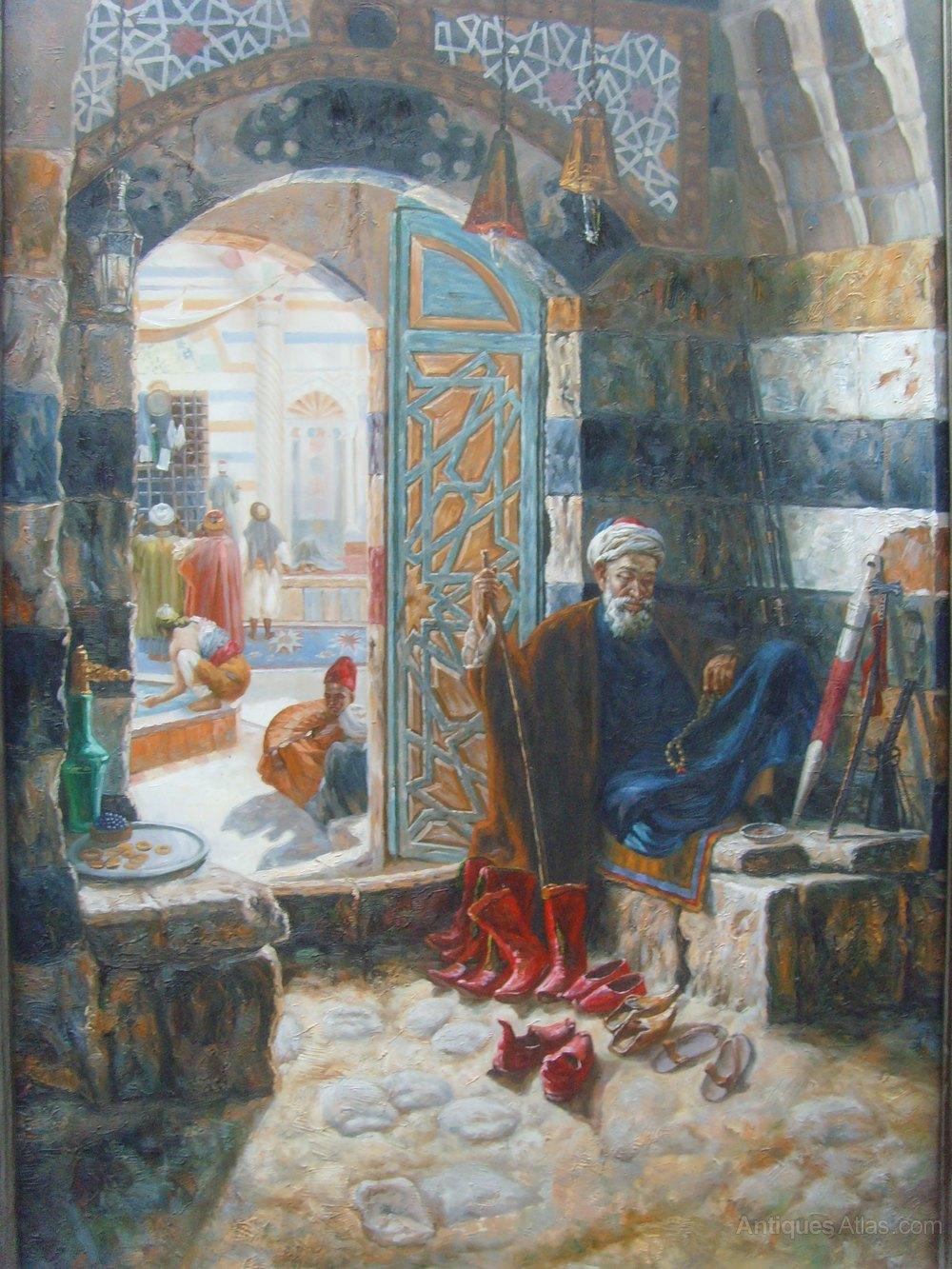 Antiques Atlas Oil After Gustav Bauernfeind Warden Of