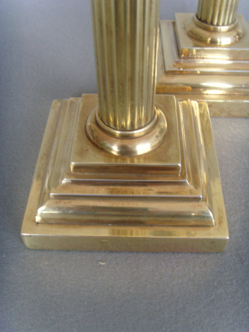 Antiques Atlas Pr Tall Brass Corinthian Column Table Lamps