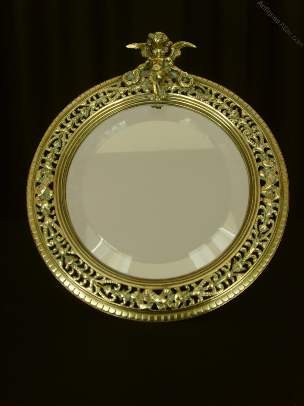 Antiques atlas victorian pierced brass easel mirror with for Victorian mirror