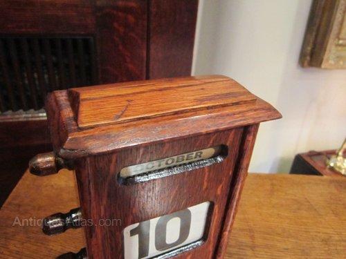 Perpetual Calendar Desk : Antiques atlas edwardian perpetual desk calendar