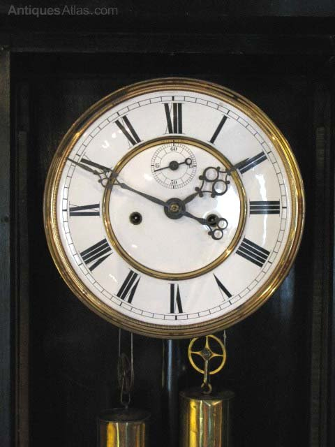 Antiques Atlas Double Weight Vienna Regulator Clock