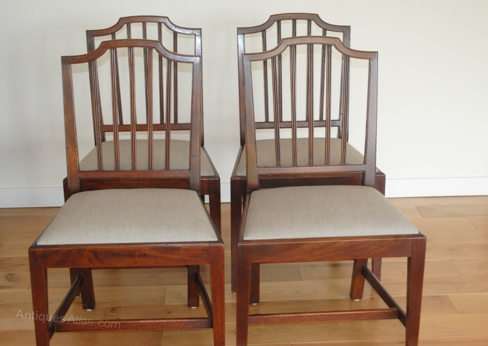 Set Of 4 Georgian Dining Chairs Antiques Atlas : Setof4GeorgianDiningChairas180a052z 2 from www.antiques-atlas.com size 1000 x 709 jpeg 92kB
