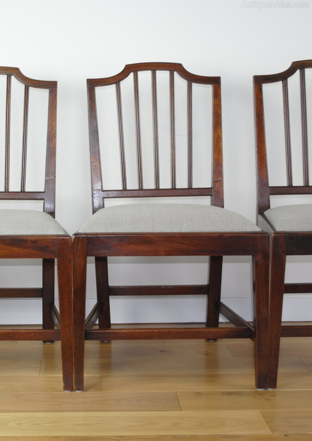 Set Of 4 Georgian Dining Chairs Antiques Atlas
