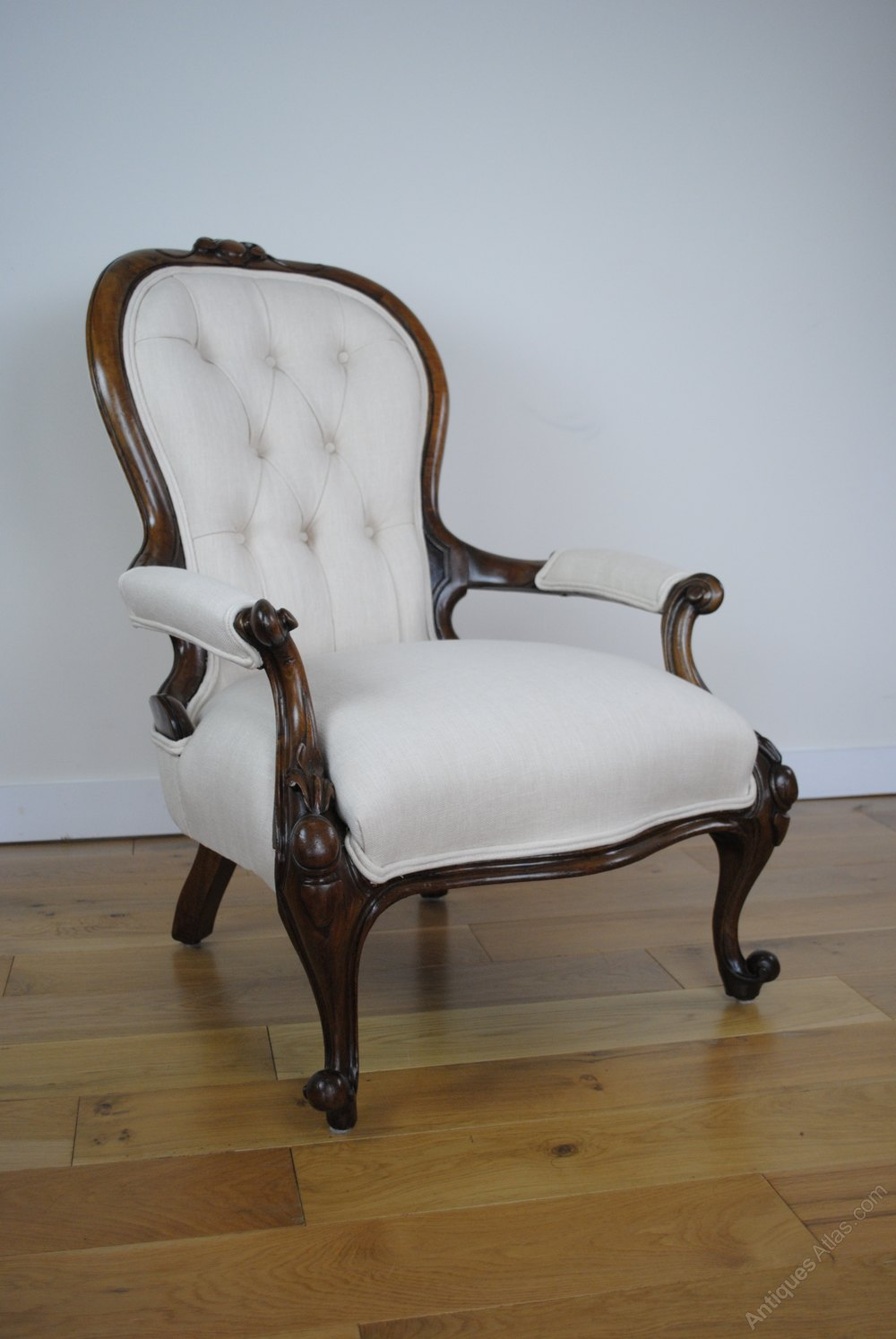 Victorian Button Back Armchair (re-upholstered) - Antiques ...