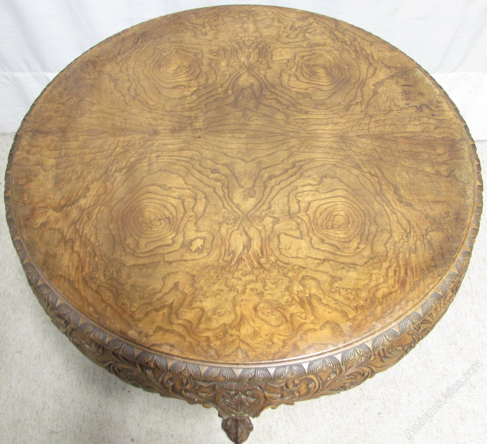 Large Walnut Round Coffee Table Antiques Atlas