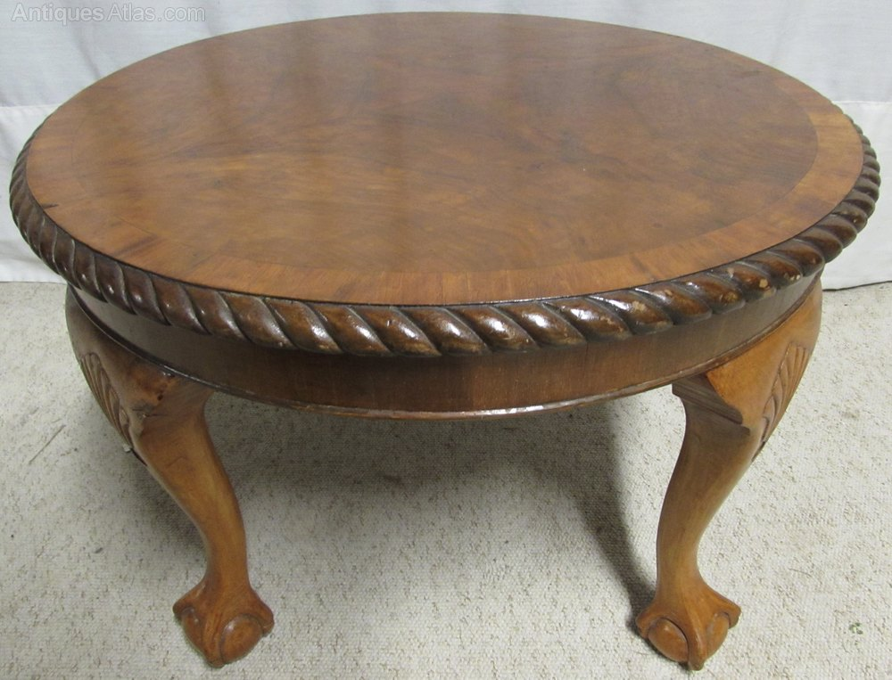 Walnut Round Coffee Table Antiques Atlas