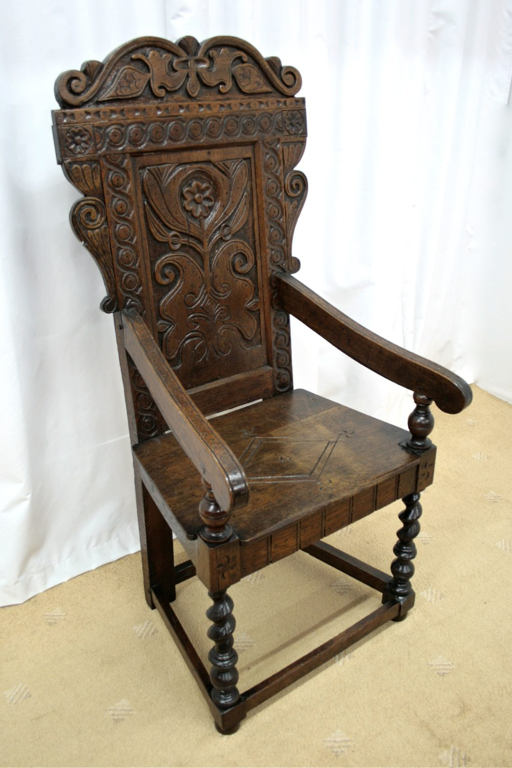 19th century oak wainscot style chairs antiques atlas. Black Bedroom Furniture Sets. Home Design Ideas
