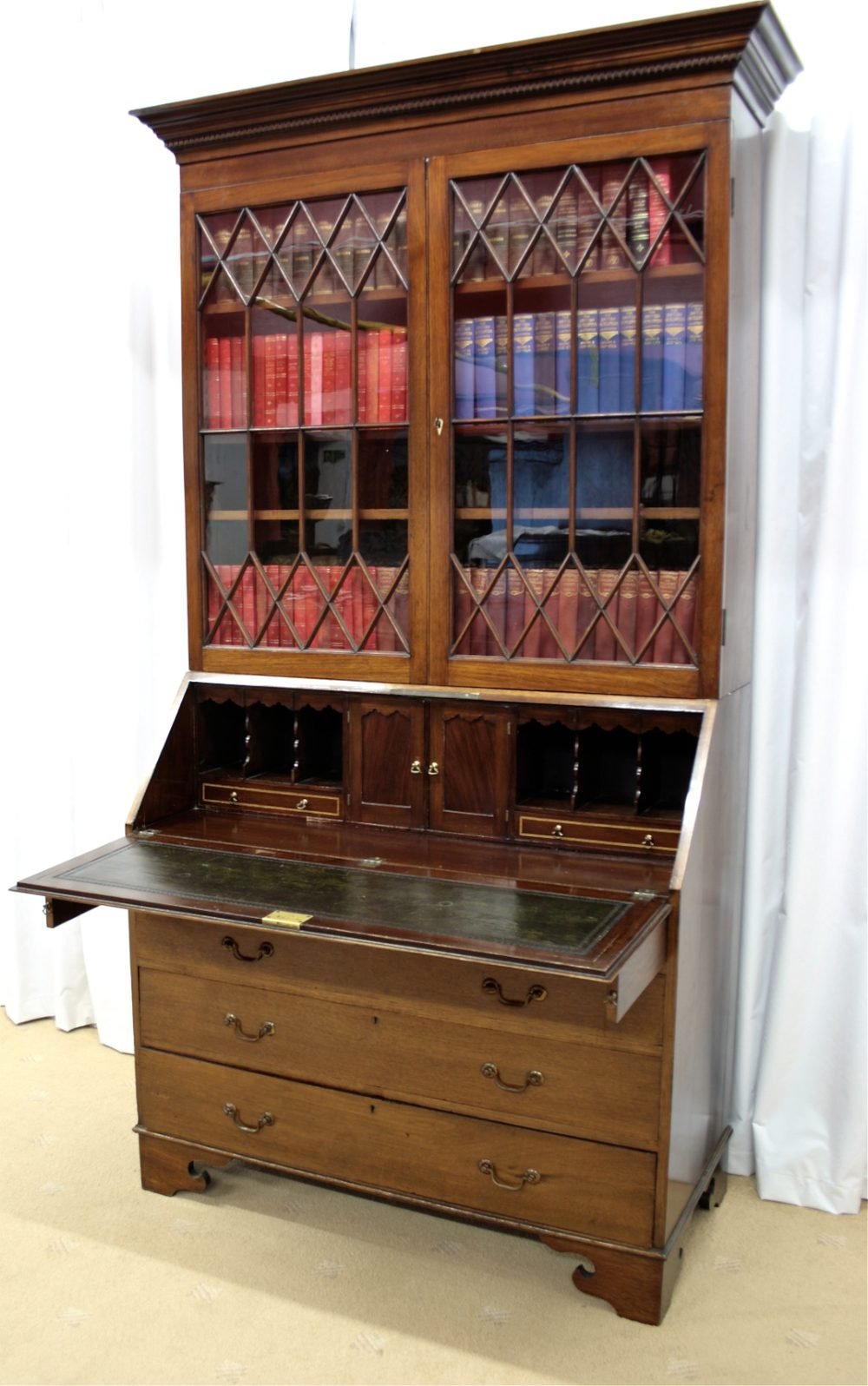 edwardian mahogany bureau bookcase antiques atlas. Black Bedroom Furniture Sets. Home Design Ideas
