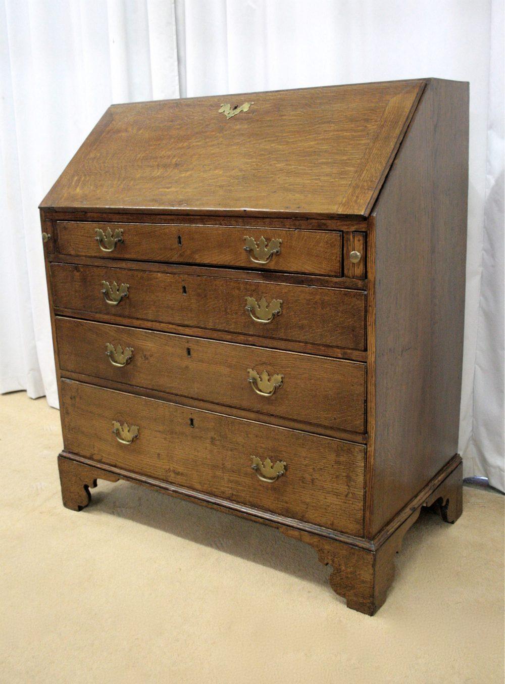 Georgian Oak Bureau Antiques Atlas
