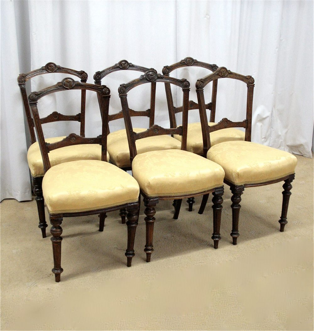six walnut dining chairs antiques atlas