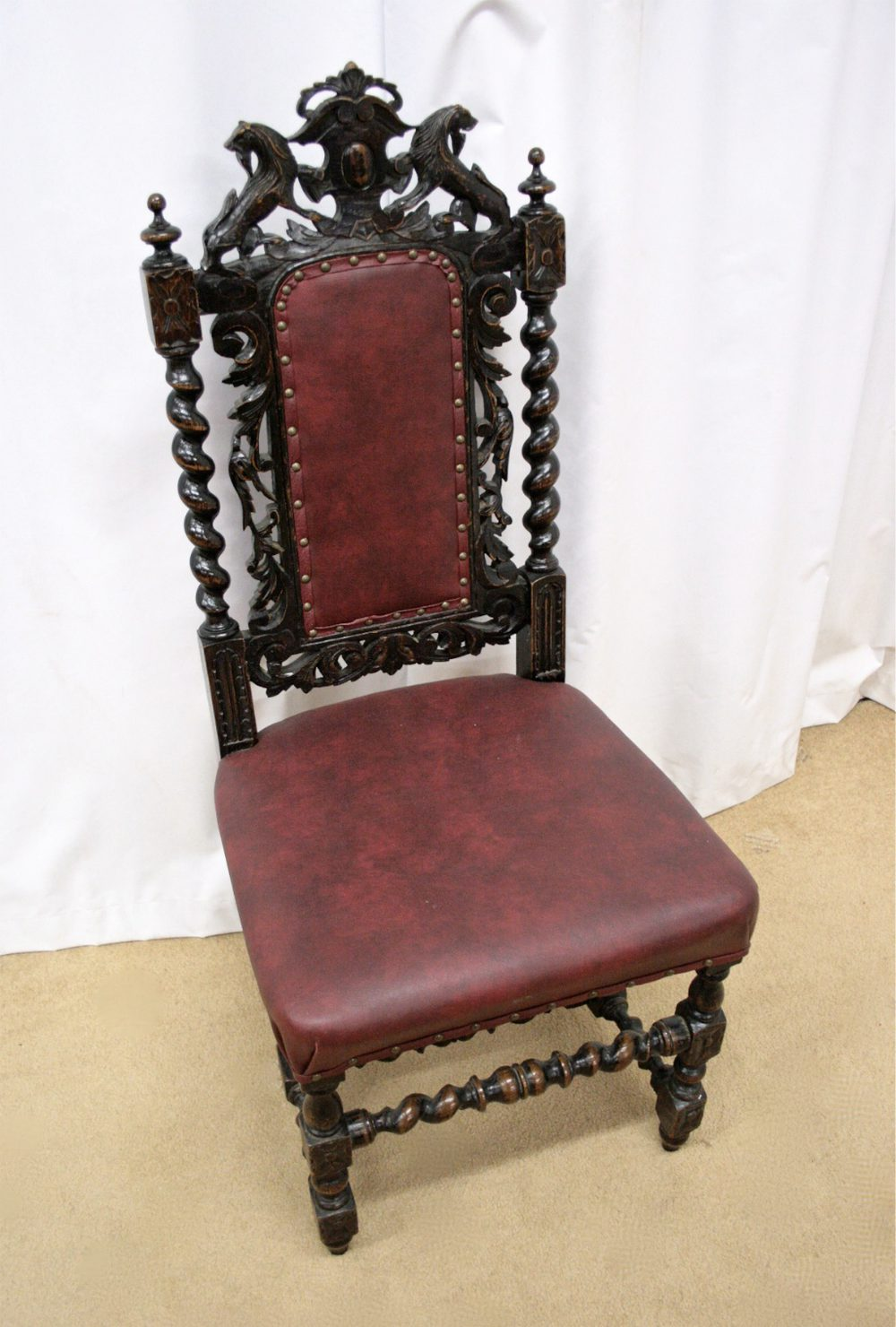 Victorian Oak Hall Chairs Antiques Atlas